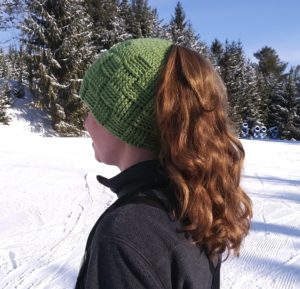 5ed727654a8 A ponytail a.k.a. messy bun hat that allows all those beautiful locks to  fall out the top of that hat… keeping the shape of your hat (especially one  you ve ...