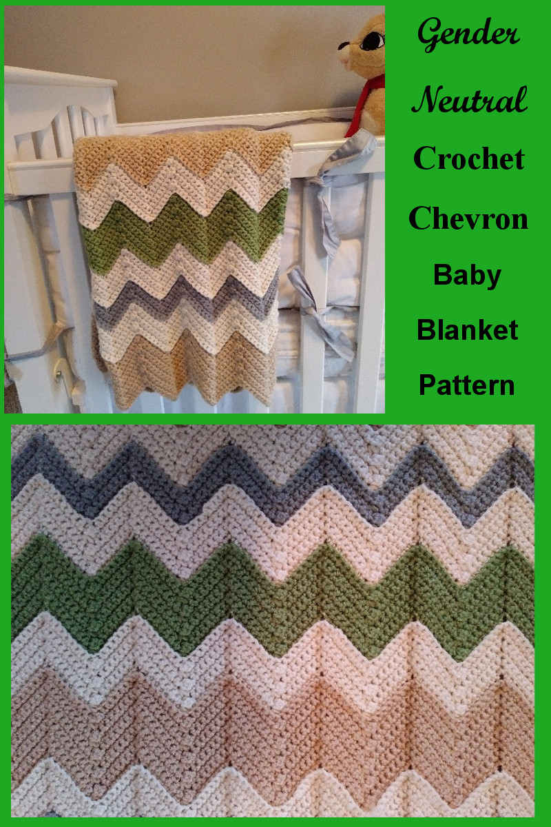 Gender Neutral Chevron Baby Blanket - Caitlin's Contagious Creations