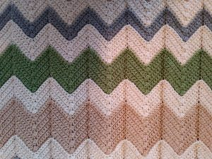 Gender Neutral Chevron Baby Blanket Caitlins Contagious Creations