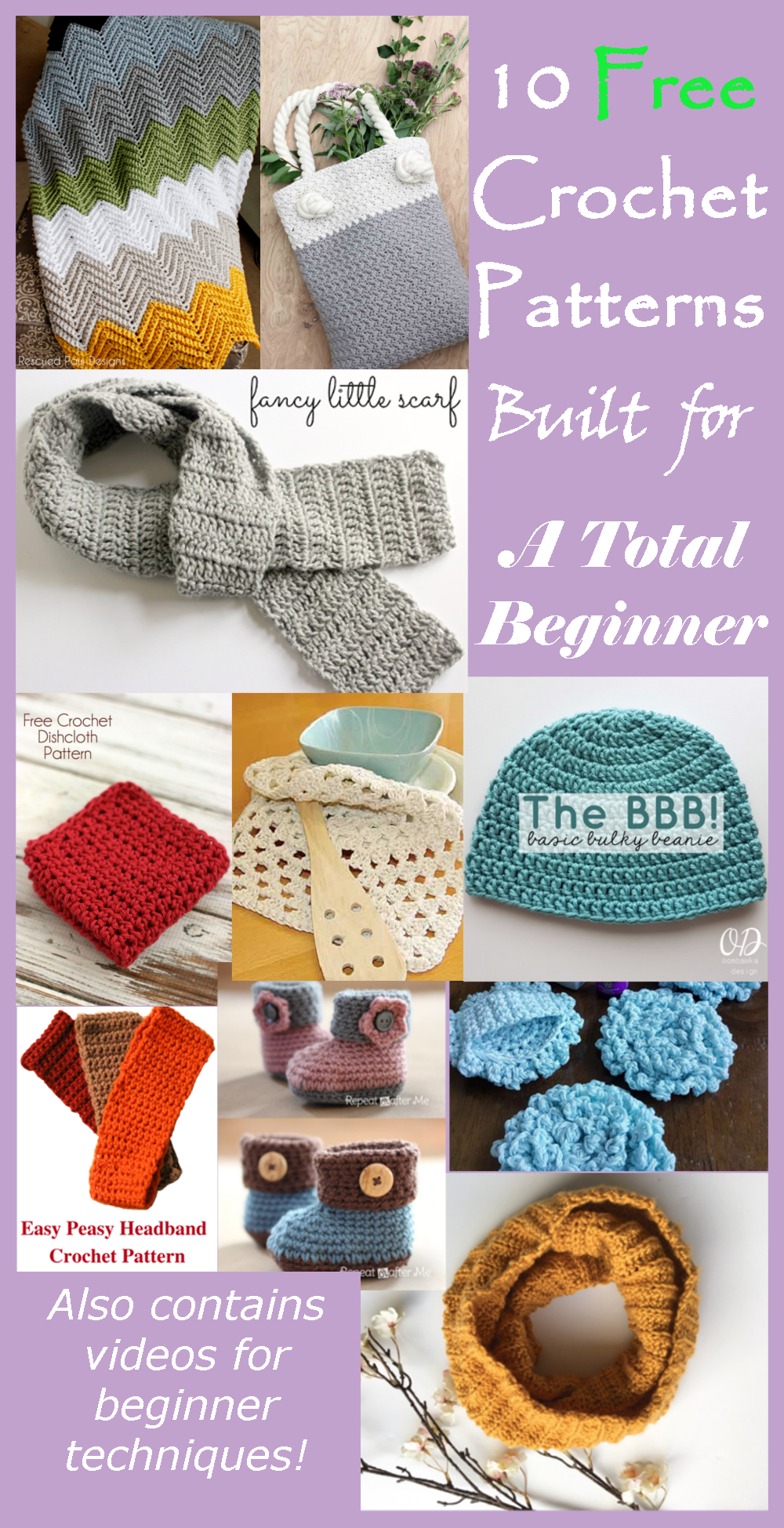 Beginner Crochet Pattern Round Up - Caitlin's Contagious