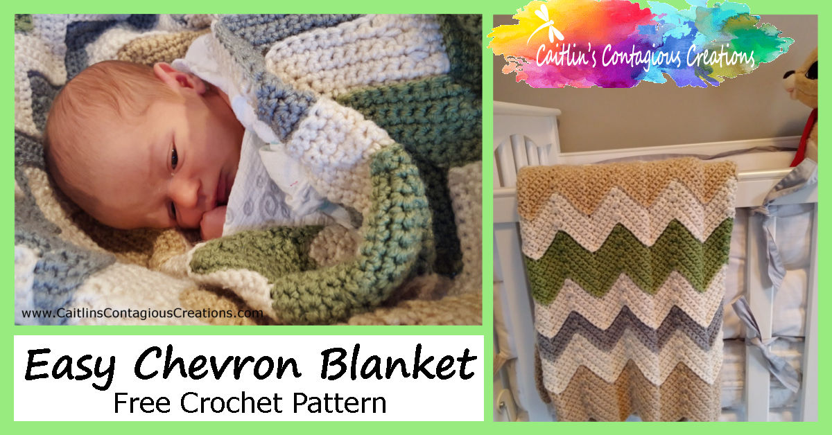 fa09944045691 Gender Neutral Chevron Baby Blanket - Caitlin's Contagious Creations