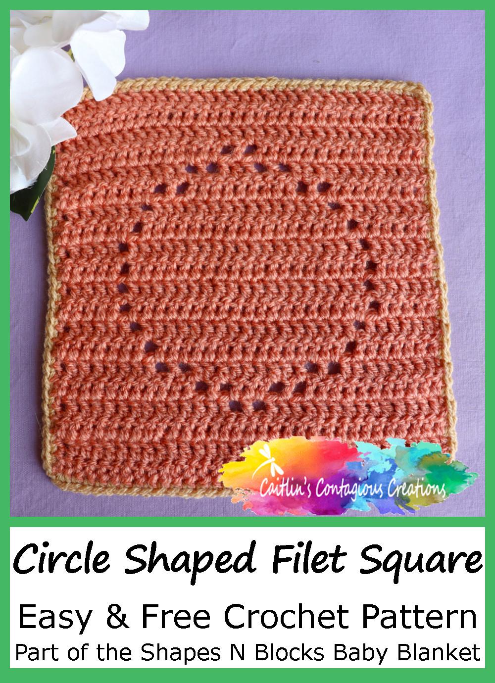 Motif de crochet carré en forme de cercle