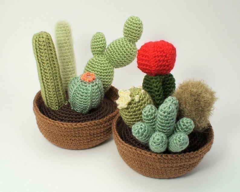 Exemple de motif de crochet de fleur réaliste de cactus