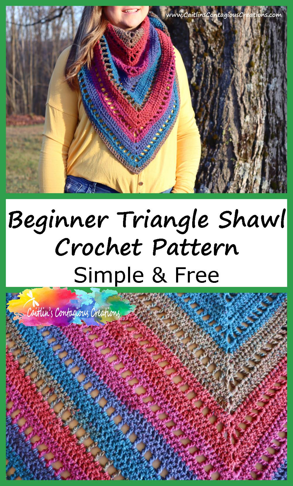 Écharpe Triangle Débutant Crochet Motif Pinterest Image 1